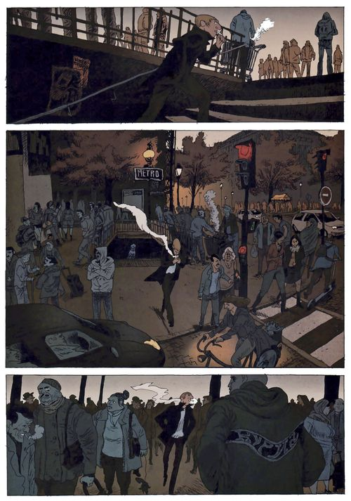 The first 3 pages of Belleville Story by Vincent Perriot