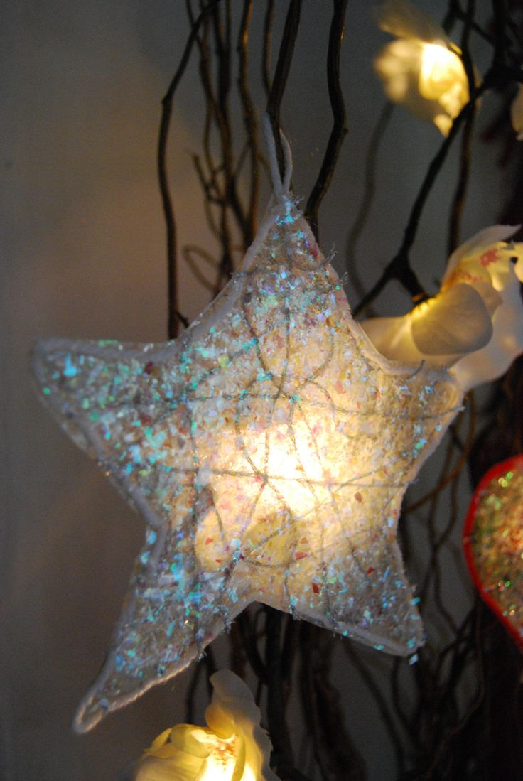 Getting Crafty – Tissue Paper Glimmers Paper Ornamentsornaments Ideaskids Christmaschristmas  2014christmas