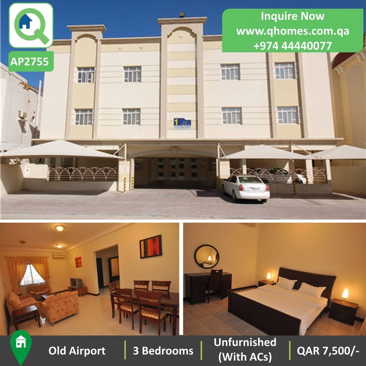 Apartment for Rent in Qatar   Spacious 3 Bedrooms Unfurnished  with ACs   Apartment in Old Airport at QAR. 288 best Properties for Rent in Qatar by Qhomes   Apartments for