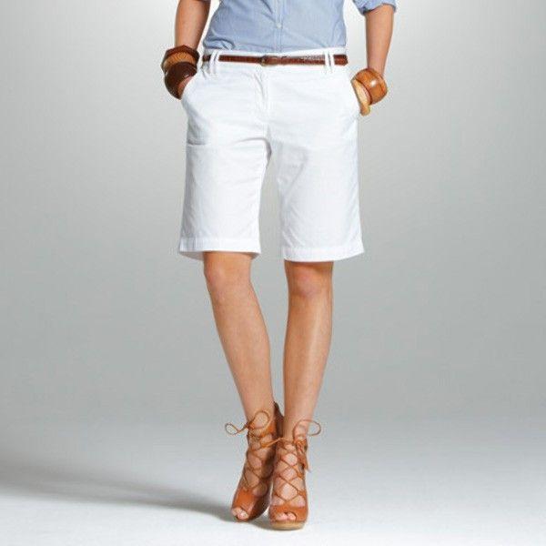 Pantalón Mujer Tommy Hilfiger TW ROME BERMUDA WHITE
