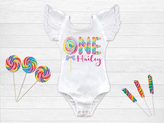 f94a720ff Candy Birthday Outfit 1st Birthday Shirt Rainbow Lollipop Birthday Leotard  Personalized Birthday Shirt Candy Birthday Party Squishy Cheeks