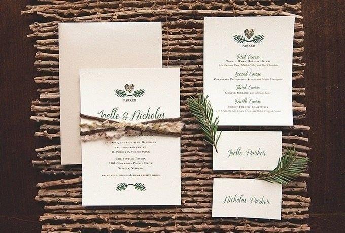 Стильные приглашения для зимней свадьбы    #wedding #bride #flowers