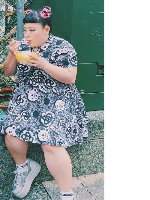 渡辺直美さんの(LAZY OAF)を使ったコーディネート
