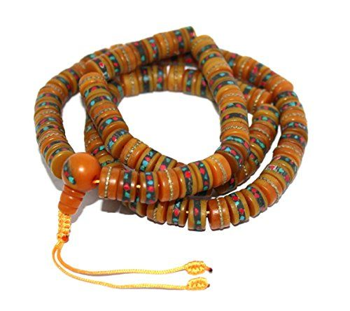 Amber Prayer beads tibetan prayer beads for meditation mala yoga prayer beads *** Click image for more details. (This is an affiliate link and I receive a commission for the sales)