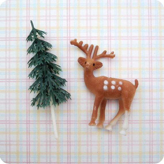 24 Woodland Cupcake Toppers  12 Deer and 12 Green by SweetKaity: 12 Green, Green Trees, Woodland Cupcakes, 12 Deer, Cakes Decor, Tree Cakes, Cupcakes Toppers Etsy, Cupcake Toppers, Trees Cakes