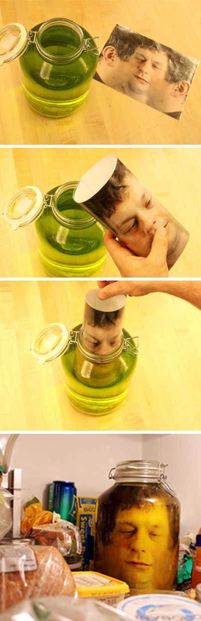 Head in a jar. Ok, that's awesome!