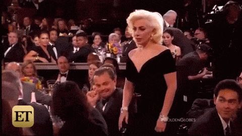 Leonardo DiCaprio's Reaction To Lady Gaga's Golden Globes Win Is Hilarious Scary Mommy