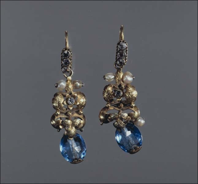 Earrings.Russians. North-West of the European part of Russia. 1st half of the 19th century
