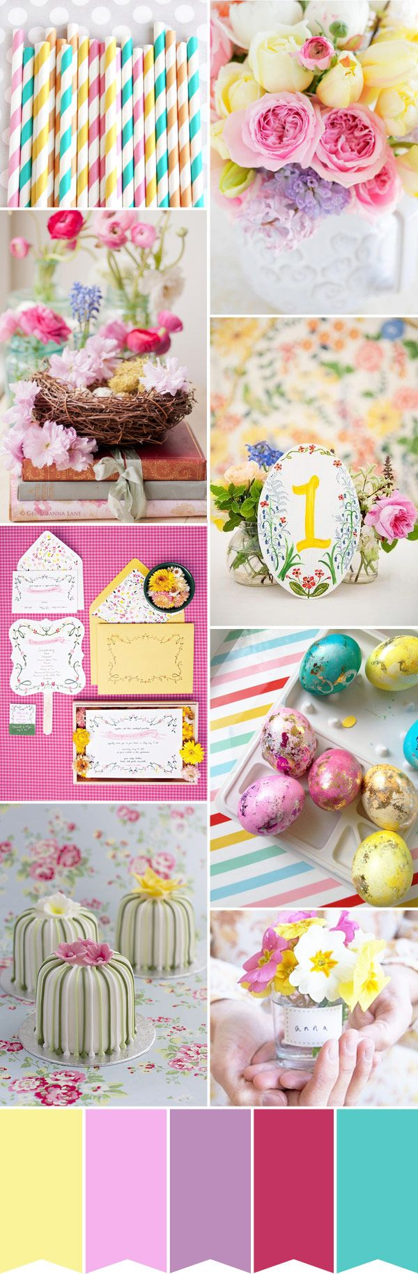Easter-Wedding-Inspiration - Read More on One Fab Day http://onefabday.com/spring-wedding-palette-easter-wedding-inspiration/