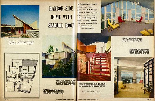 Divola residence - Rose Bay, Sydney - 1961  (Architect: HL Divola) - Also see: http://trove.nla.gov.au/work/13590192?q=house+architect&l-availability=y&l-australian=y&l-decade=196&c=picture