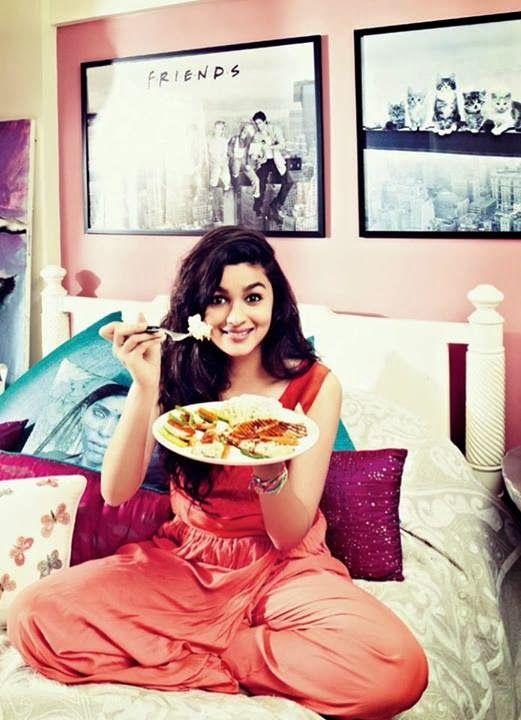 Funny Pics of Alia Bhatt at her home
