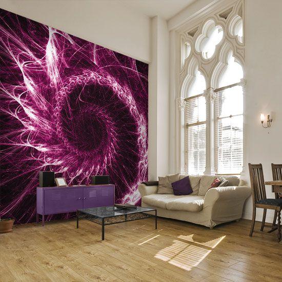 Cudowna fototapeta z abstrakcyjną spiralą w odważnym kolorze.