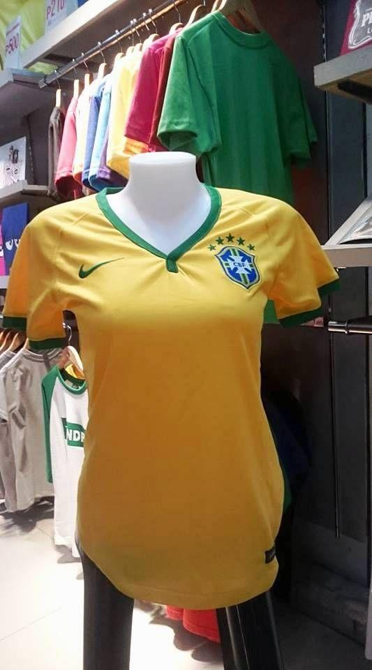 ef358b41570 BRAZIL 2014 FIFA WORLD CUP 4TH PLACE HOME JERSEY NIKE SHIRT CAMISA SMALL  KIDS WOMEN