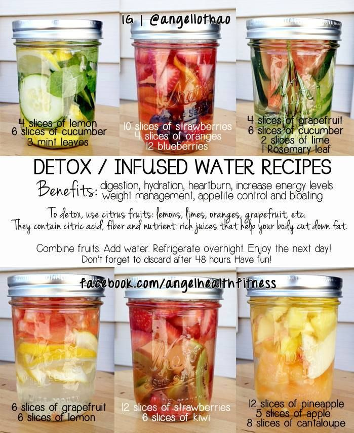 detox infused water recipes