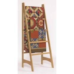 The design of this ladder-style quilt rack focuses attention where it belongs: on the quilts you hang on it. And its clean lines complement any decorating style. Simple design, basic power tools, and ...