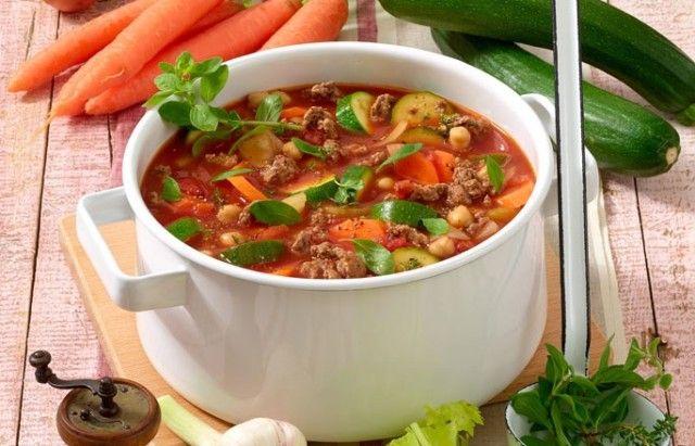Blitz-Suppe mit Hack
