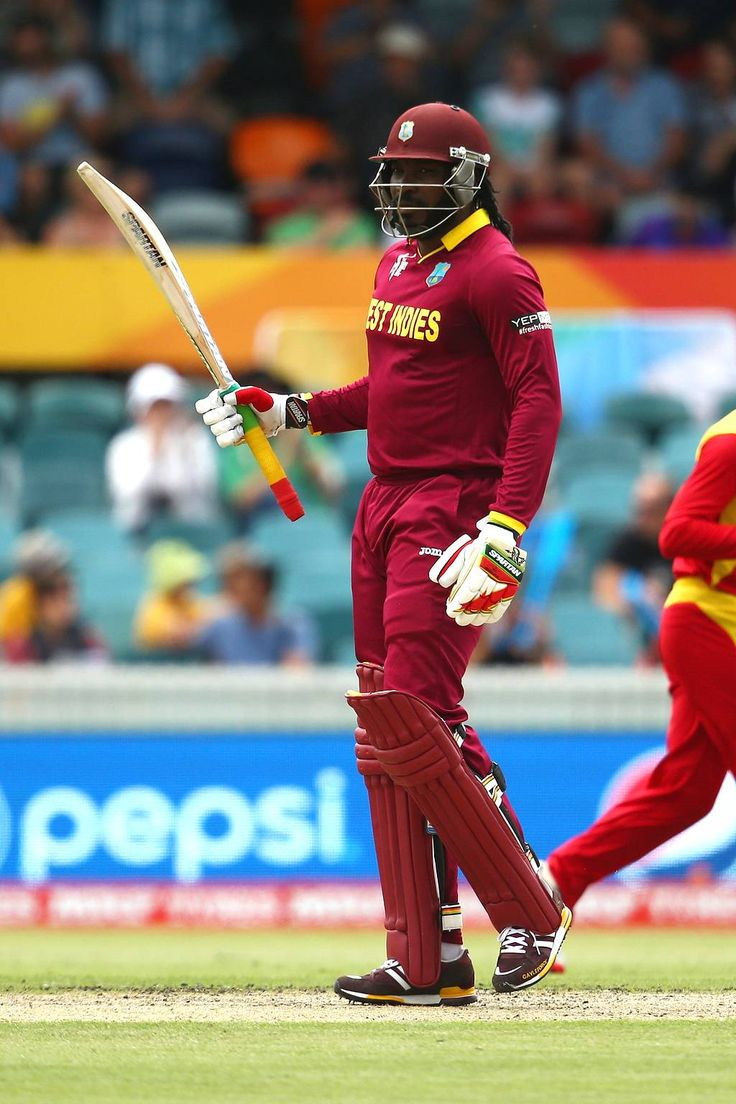 West Indies vs Zimbabwe, 15th Match, Pool B Chris Gayle roared back into form with a spirited fifty