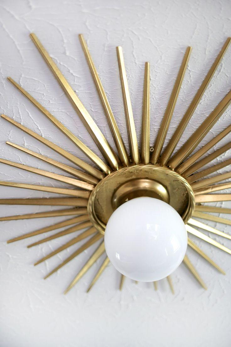 Need To Do This! Sunburst Ceiling Medallion DIY (click Through For Tutorial) Nice Design