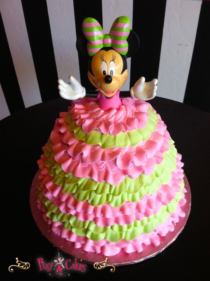 Disney Minnie Mouse Cakes | Pin Disney Pink 1st Birthday {birthday} The Hudson Cakery Cake on ...