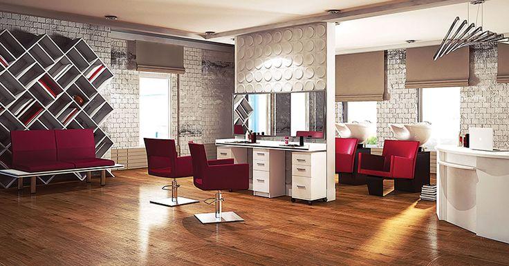 Salon collection Amelia by Ayala salon furniture. Hairdresser salon idea modern style. #Salonideas