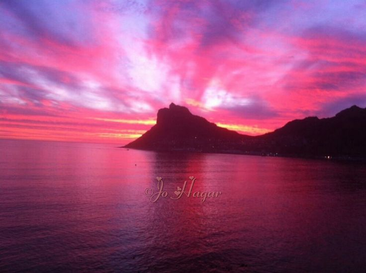 Gorgeous Sunset looking out to Hout bay, Cape Town, South Africa. pic taken by a friend.