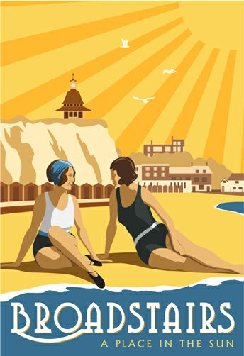 Vintage Broadstairs. Prices starting at £12 for A4 print from www.whiteonesugar.co.uk
