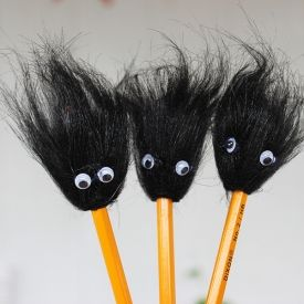 These Back to School Pencil Toppers are so easy to make the kids can do it themselves!