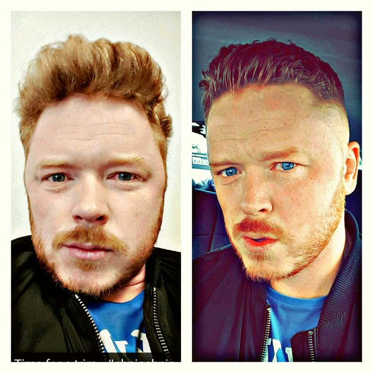 Before and after a recent visit to my local barber shop...