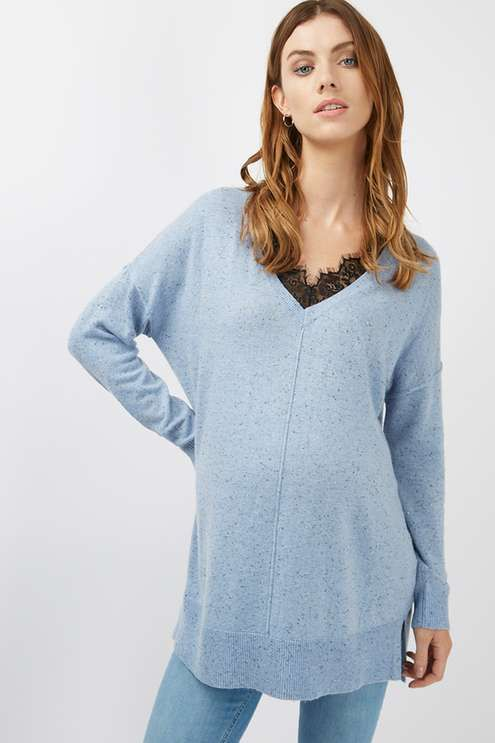 A wonderful jumper with front lace detailing for maternity #Topshop