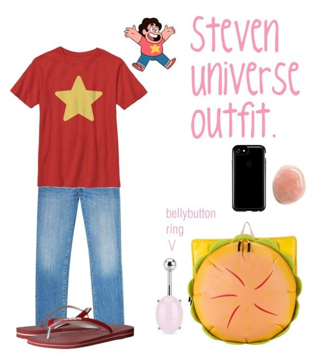 """""""SU : Steven"""" by chaoticduck ❤ liked on Polyvore featuring Corneliani, Cartoon Network, Havaianas and Speck"""
