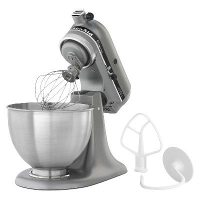 KitchenAid Classic 4.5 Qt Stand Mixer - KSM75, Silver, Durable
