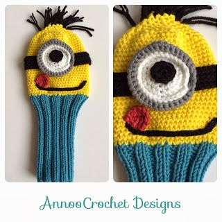 Father's day Crochet  Minion Golf Club Cover Free Tutorial By AnnooCrochet Designs