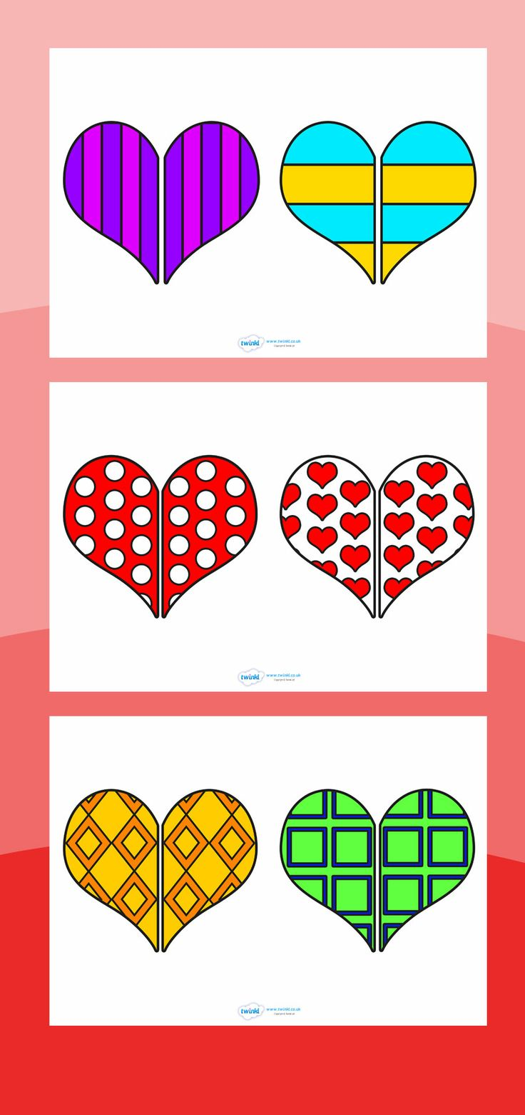 Valentine Heart pattern matching game printable >> http://www.twinkl.co.uk/resources/festivals-and-cultural-celebrations/valentines-day/valentines-day-activities-and-games games, kids, fun, activity