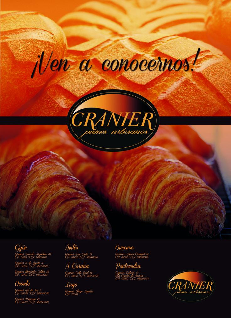 Anuncio para Panadería/Cafetería Granier.