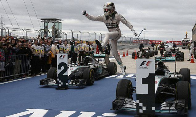 Hamilton claims third F1 world title after winning US Grand Prix #DailyMail