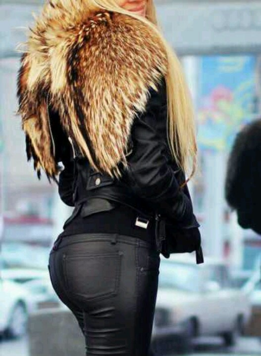 Sexy: Fur Coats, Faux Fur, Angel Wings, Style, Winter Outfits, Black Leather Pants, Leather Jackets, Red Foxes, Winter Coats