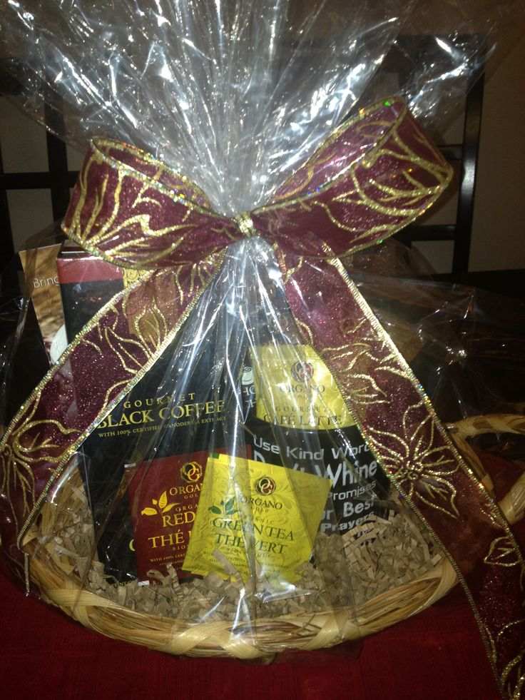 39 best gift baskets images on pinterest gift baskets candles custom gourmet coffee organo gold gift baskets for clients family or friends perfect for negle Image collections