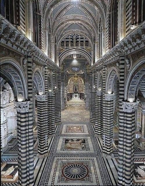 Beautiful Siena Cathedral, province if Siena , Tuscany region Italy