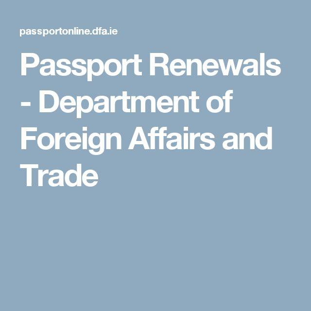 Passport Renewals - Department of Foreign Affairs and Trade