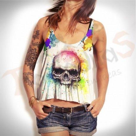 top crops skull colors, te brinda personalidad y comodidad