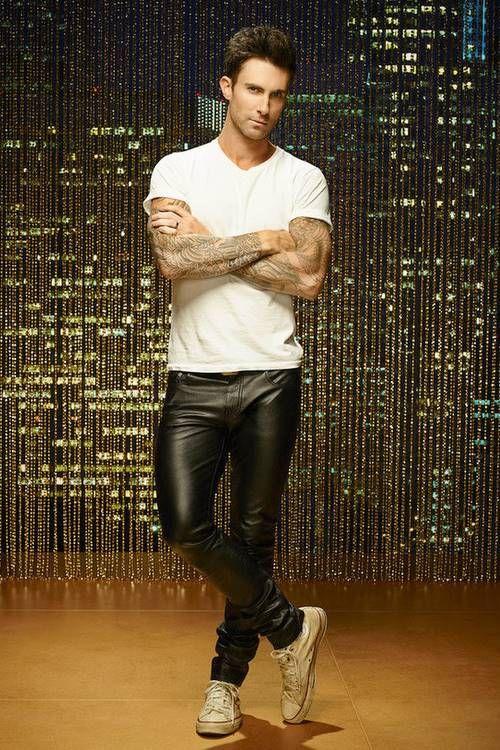 guysinleatherpants:  Adam Levine For more pics, follow @guysinleatherpants