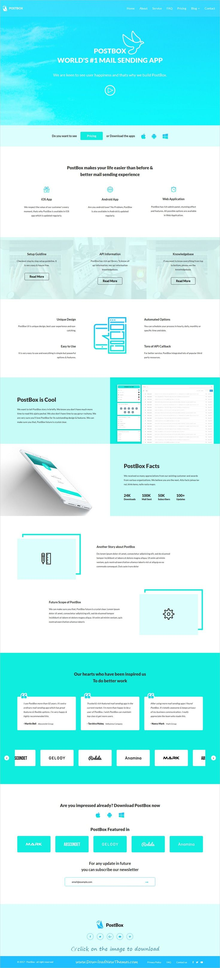 PostBox - Software & SaaS App Product Template | Software and App