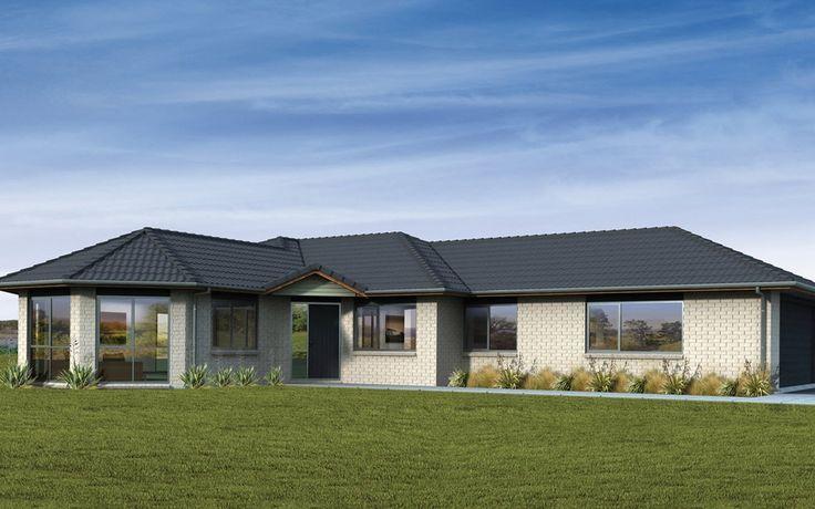 Fachada de casa de un piso con ladrillo caravista planos - Fachadas de casas pequenas de un piso ...