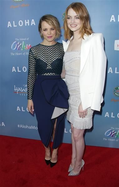 Rachel McAdams and Emma Stone