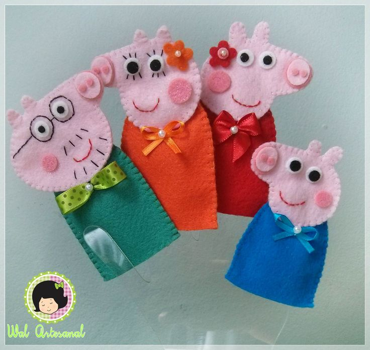 Peppa Pig Family - Finger Puppets                                                                                                                                                     Más