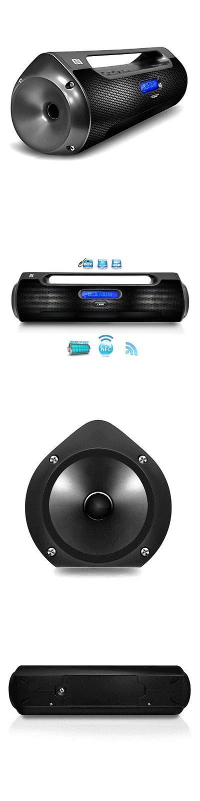Portable Stereos Boomboxes: Bluetooth Portable Boom Box Speaker, Wireless,Usb Flash, Micro Sd, Fm Radio BUY IT NOW ONLY: $131.29
