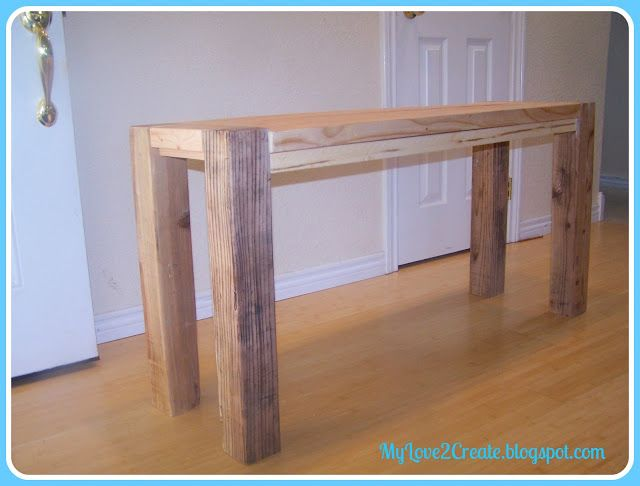 counter height bench tutorial