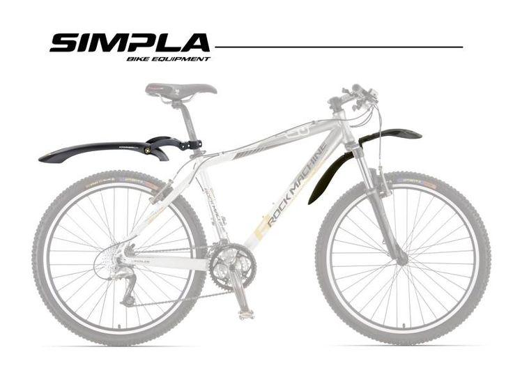 """GpSDE -  Komplet błotników zaprojektowany z myślą o amortyzowanych rowerach.Na koła 24""""-28""""."""