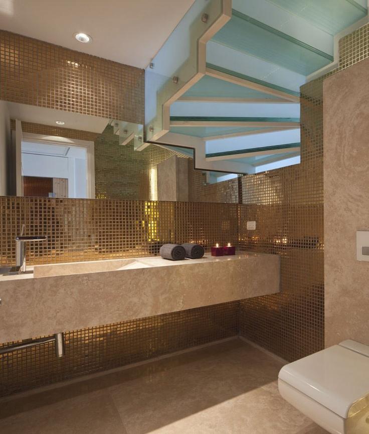 Image Detail For  Gold Bathroom Mosaic Tile Design: Gold Bathroom Mosaic  Tile Design
