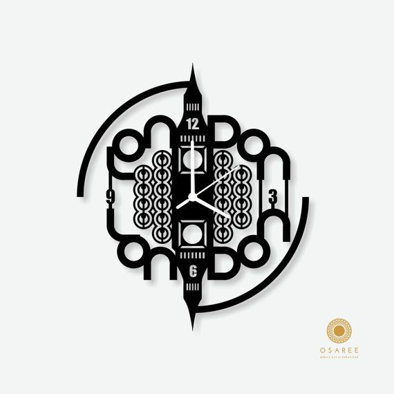 London The Big Ben Tower Acrylic Laser Cut wall clock by Osaree